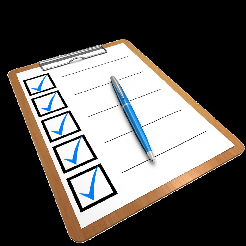 Checklist de vérification